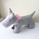 Handmade Wool Scottie Dog