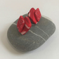 """Strawberries & Cream"" Small Polymer Clay Earrings"