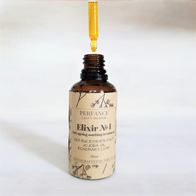 Elixir Face Oil Serum: Jojoba, Calendula, Sea Buckthorn, Rosemary Leaf 50ml