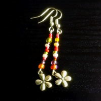 Flower Power Beaded Earring