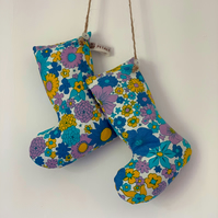 Vintage Fabric Lavender Filled Boots