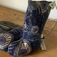 Liberty Print Lavender filled Boots