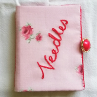 Pink Rose Needlecase