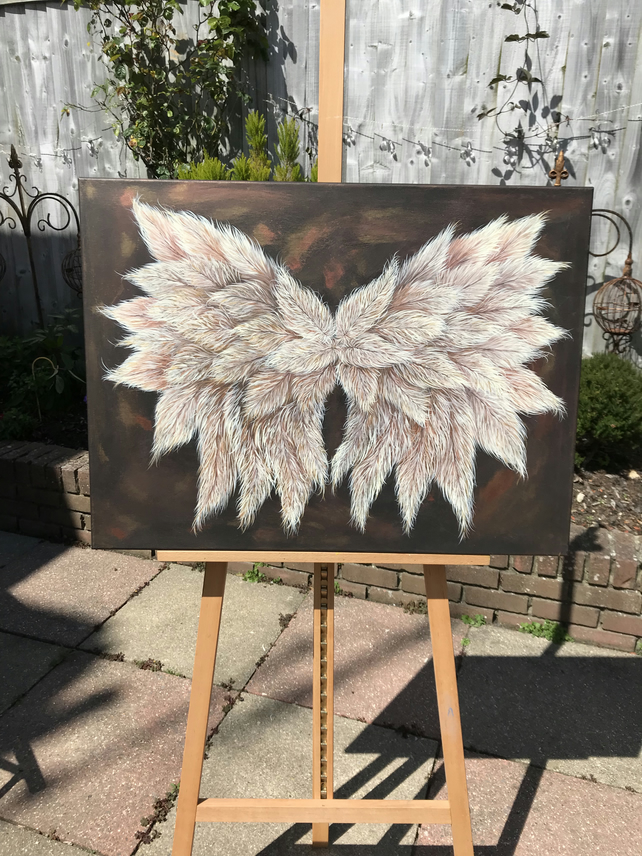 Original Painting - Galactic Wings - Acrylic on Canvas
