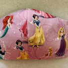 Child 'Disney Princesses' face mask - to fit ages 7 to 12 - totally reversible