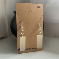 Small Glow In The Dark Rectangle Earrings