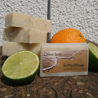 Citrus soap, luxurious, handmade, natural.