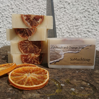 Patchouli and Orange soap, luxurious, handmade, natural.