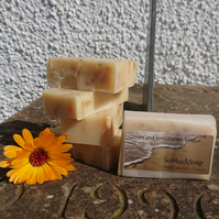 Ginger and Lemongrass soap, luxurious, handmade, natural.