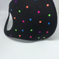 Neon colour dot face mask, accessory . Large dots.
