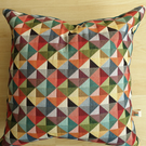 "Cushion cover - 20"" x 20"" multicolored geometric cushion cover"