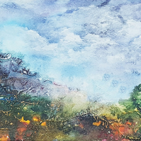 "Original painting ""Out on the Moors"" by Jackie Lowman"