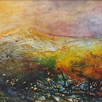 "Original Mixed media painting ""First Light"" by Jackie Lowman"