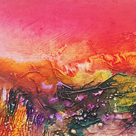 "Original painting ""Sunset's Glow"" by Jackie Lowman"