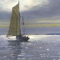 "Original painting ""Heading Out"" by Russell Aisthorpe"