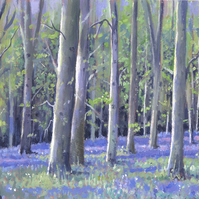 "Original Painting ""Woodland Scene"" by Russell Aisthorpe"