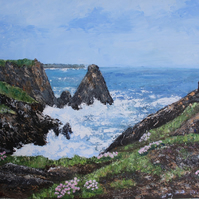 "Original Painting ""View of Kynance Cove"" by Sue Netherton"
