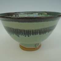 Hand thrown Turquoise Bowl by Jenni Phillips
