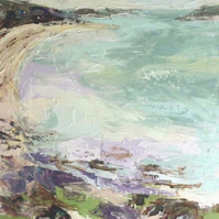 "Original oil painting ""Calm Clear Water, Tresco, Scilly"" by Nicky May"