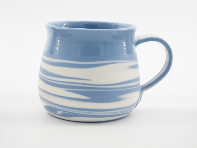 Hand thrown Porcelain Agate Cup by Rowan Fawdon