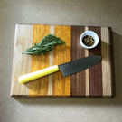 Rustic reclaimed hard Wood chopping board