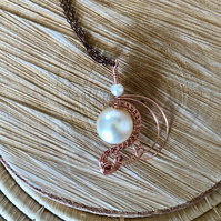 Ivory Flutters - Wire Wrapped Pendant