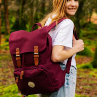 Lakeside Burgundy Laptop Bag