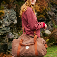 Lakeside Vintage Tan Cotton Holdall