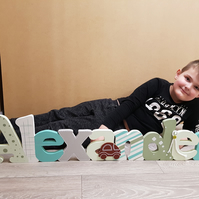 Wooden letters, Personalised wooden name, wall decor, children's bedroom,