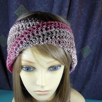 SPARKLY TURBAN HEAD BAND, in crochet.