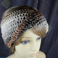 BROWN CROCHET HEAD BAND