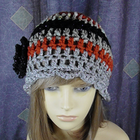 LADIES BOHO CROCHET HAT