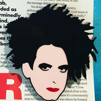 Flash sale  Robert Smith The Cure Acrylic Brooch