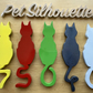 Pet Silhouette Colourful House Numbers