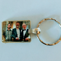 Memorial Key Fob, Photo Key Ring, Key Charm, Remembrance Gift, Memorial Gift