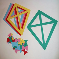 Kite Cutout Suncatcher Kit