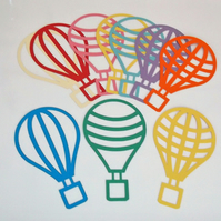 Hot Air Balloons Cutout Suncatcher Kit