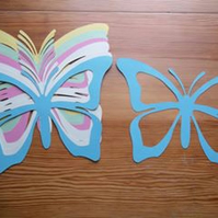 Butterfly Cutout Suncatcher Kit