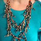 Fabric and Cord Necklace
