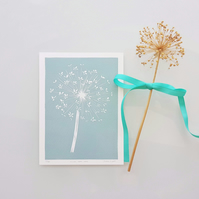 Allium Seedhead Linocut Print, Limited Edition Print