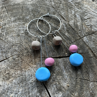 Lollipop Hoop Drop Earrings