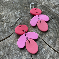 Petals Polymer Clay Earrings