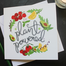 Plant powered blank card