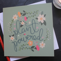 Plant powered card, flower card