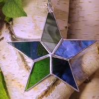 Classic Tiffany Style Stained Glass Star Handmade Glass Decoration