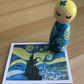 Starry night peg doll