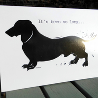 'Dachshund' - Pack of 5 blank greetings cards