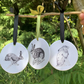 Ceramic Hare Hanging decorations SET OF 3