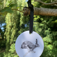 Individual Ceramic, Hanging Hare Decoration, gift idea, home decor