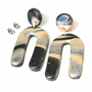 Black Mountain Marbled Arches Studs